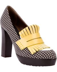 Marni Heeled Loafer yellow - Lyst