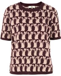 Orla Kiely -  Short Sleeve Jumper - Lyst