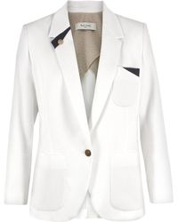 Paul by Paul Smith - F098510 White Cotton Jacket - Lyst