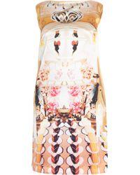 Mary Katrantzou Cakeer Flake Silk Shift Dress - Metallic