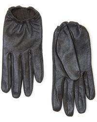 Mango Glitter Leather Gloves - Lyst