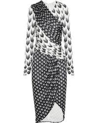 Rag & Bone Rani Printed Jersey Dress gray - Lyst
