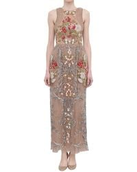 Valentino Floral And Pearls Embroidered Dress - Lyst