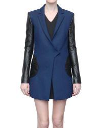 Versus  Wool Jacket  blue - Lyst