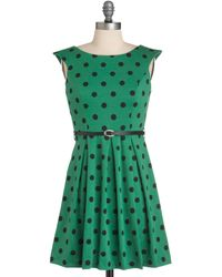 ModCloth A Grand Weekday Out Dress in Dots - Lyst