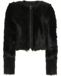 Mulberry Wild Lamb Fur Cropped Jacket - Lyst
