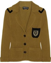 Sonia Rykiel Ribbed Knit Wool and Cashmere Blend Cardigan - Lyst