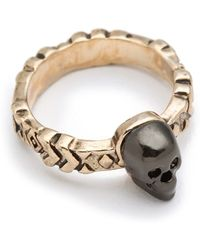 House of Harlow 1960 - Engraved Skull Ring - Lyst