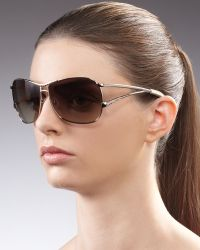Jee Vice - Catchy Crystalencrusted Sunglasses Golden - Lyst