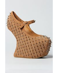 Jeffrey Campbell The Prickly Shoe in Nude Suede - Lyst