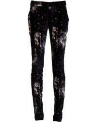 Jeremy Laing Velvet Print Skinny Trouser black - Lyst