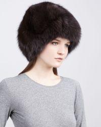 Rachel Zoe - Fox Fur Hat Brown - Lyst