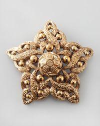 Stephen Dweck - Beaddetailed Star Brooch Bronze - Lyst