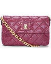 Marc Jacobs Burgundy Iconic Quilting Single Shoulder Bag - Lyst