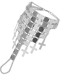 TOPSHOP - Square Cross Hand Chain - Lyst