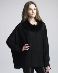 Alice + Olivia Abbot Fur collar Pullover - Lyst