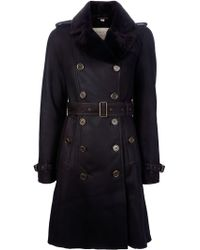 Burberry Brit Lambskin Trench Coat - Lyst