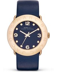 Marc By Marc Jacobs Stainless Steel and Leather Strap Watch 36mm - Lyst