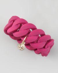 Marc By Marc Jacobs Katie Wide Rubber Turnlock Bracelet  - Lyst