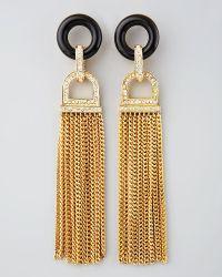 Rachel Zoe Rhinestone Tassel Earrings - Lyst