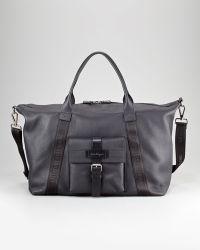 Ferragamo Alpha Leather Duffel Bag - Lyst