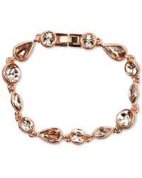 Givenchy Rose Gold-Tone Silk Stone Flex Bracelet - Lyst