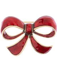 Cath Kidston - Cath Kidston Red Bow Brooch - Lyst