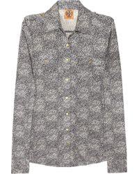 Tory Burch Edie Silk Shirt - Lyst