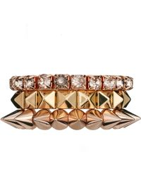 ASOS - Pyramid Spike Stone Bracelet Pack - Lyst
