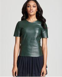 Sachin & Babi Leather Top Barcelona Short Sleeve - Lyst
