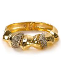 Alexis - Bittar Bel Air Gold Medium Sculptural Hinge Bracelet - Lyst