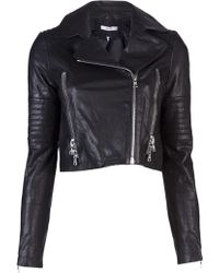 J Brand Aiah Leather Biker Jacket - Lyst