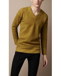 Burberry Brit - Wool Cashmere Guernsey Sweater - Lyst