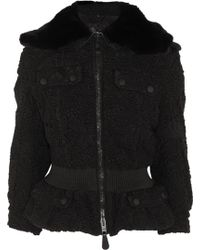 Burberry Prorsum Rabbit Collar Lace Jacket - Lyst