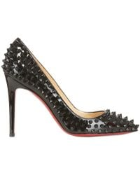 Christian Louboutin 100mm Pigalle Patent Spikes Pumps - Lyst