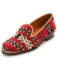 Cobra Society Najet Tapestry Loafers red - Lyst