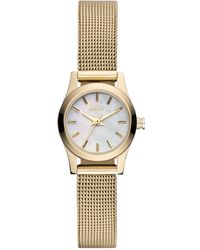 DKNY Womens Gold Ion Plated Stainless Steel Mesh Bracelet 20mm - Lyst