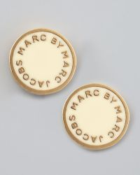Marc By Marc Jacobs - Enamel Logo Disc Stud Earrings  - Lyst