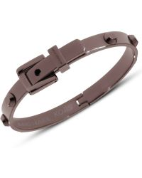 Michael Kors Espresso Tone Hinged Buckle Bangle Bracelet - Lyst