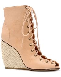 Rebecca Minkoff Solange Wedges Nude - Natural