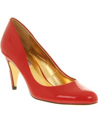 Ted Baker Peoni 3 Court Shoe Red Patent Leather - Lyst