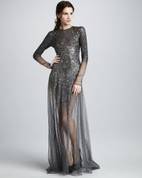 Theyskens' Theory - Dathen Sheer Beaded Gown - Lyst
