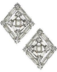 Topshop Sparkle Diamond Stud Earrings - Lyst