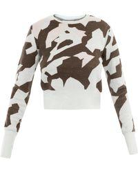 Acne Studios Lia Camoprint Sweater - Lyst
