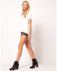 ASOS Collection Tunic with Laddered Dip Back white - Lyst