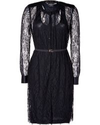 By Malene Birger Black Lace Nanaria Dress - Lyst
