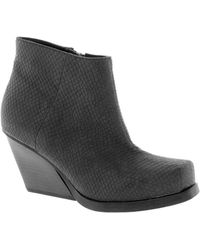 Cheap Monday Angle Low Snake Ankle Boots - Lyst
