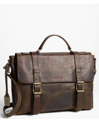 Frye 'Logan' Leather Flap Briefcase - Lyst