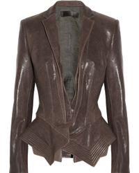 Haider Ackermann Leather Peplum Jacket - Lyst