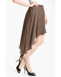 Kelly Wearstler Flirt Asymmetrical Georgette Skirt black - Lyst